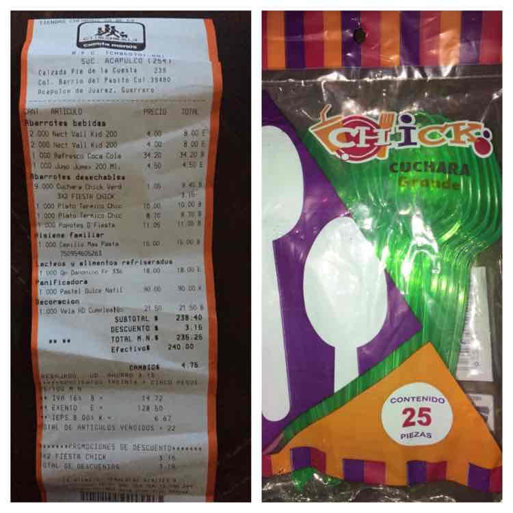 Chedraui: Cucharas grandes de plástico marca Chick $1.05 y más
