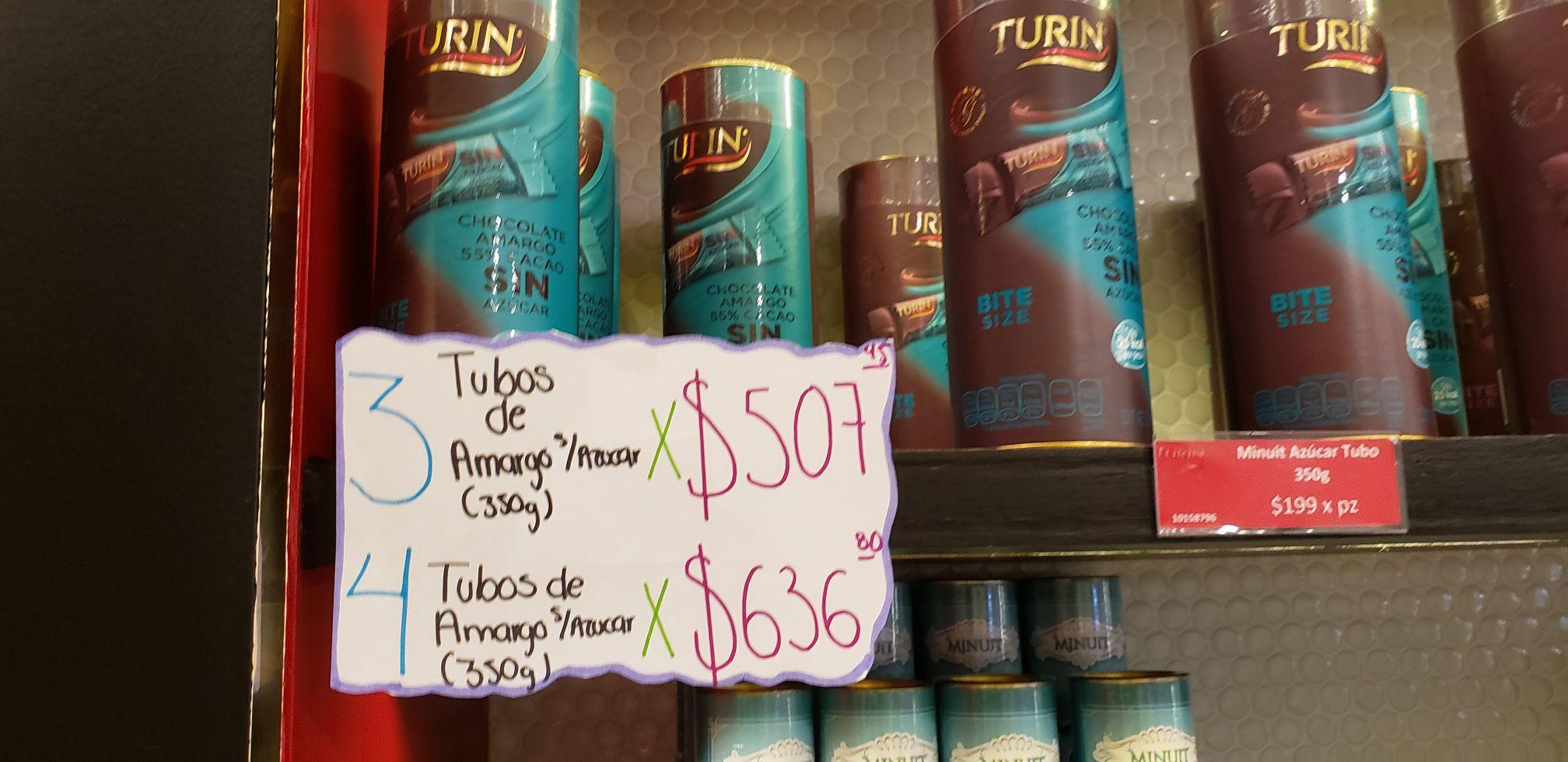 Turin: Chocolate amargo sin azúcar 350 g