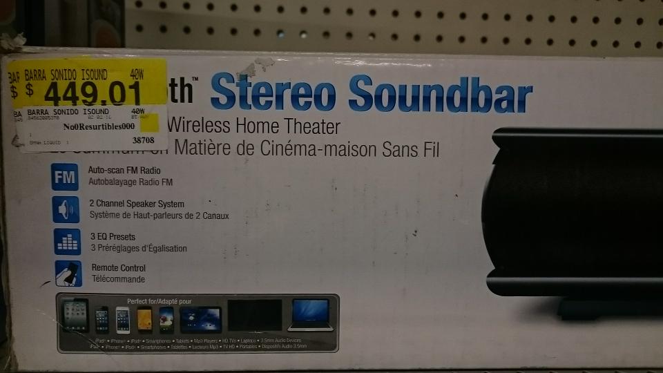 Bodega Aurrerá: Barra de Sonido Bluetooth iSound