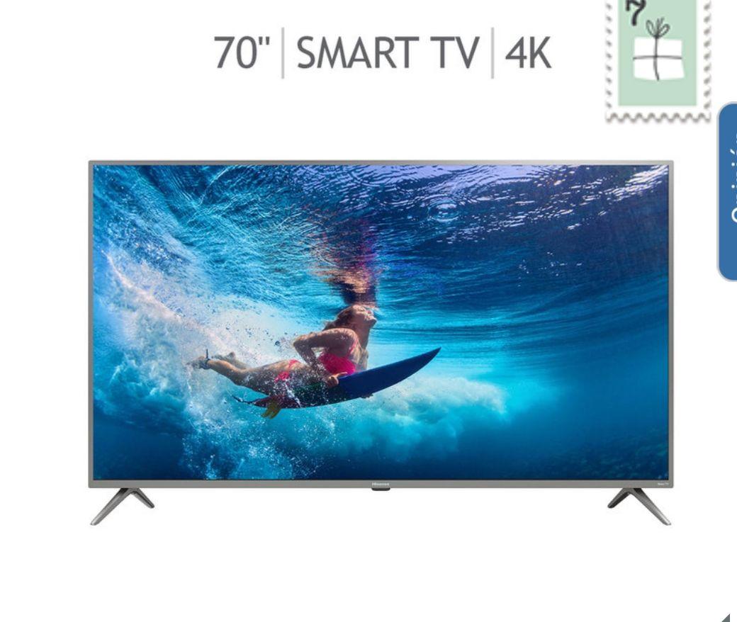 """Costco en línea: Hisense Pantalla 70"""" Roku TV LED UHD 4K"""