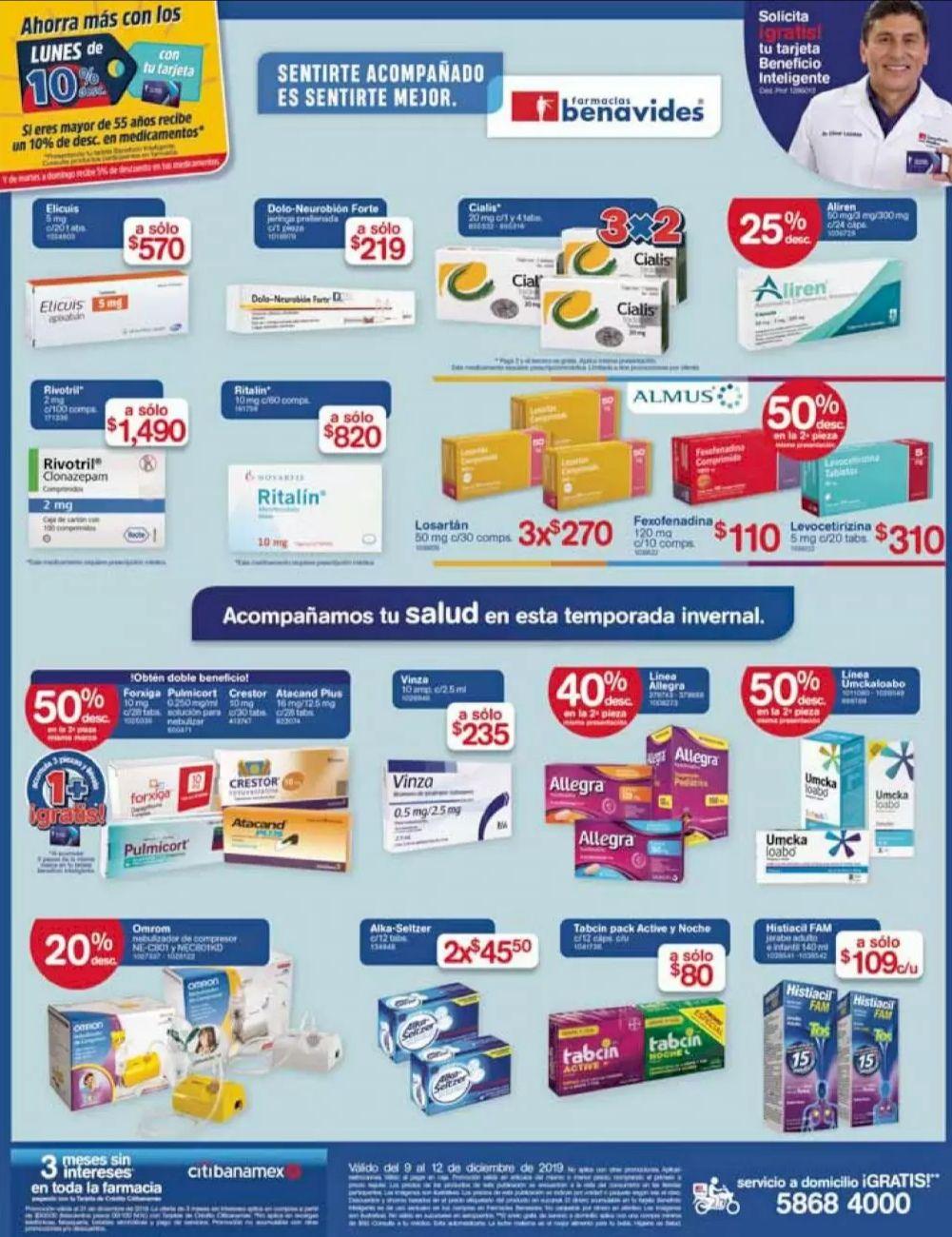 Farmacias Benavides: Ofertas del Lunes 9 al Jueves 12 de Diciembre