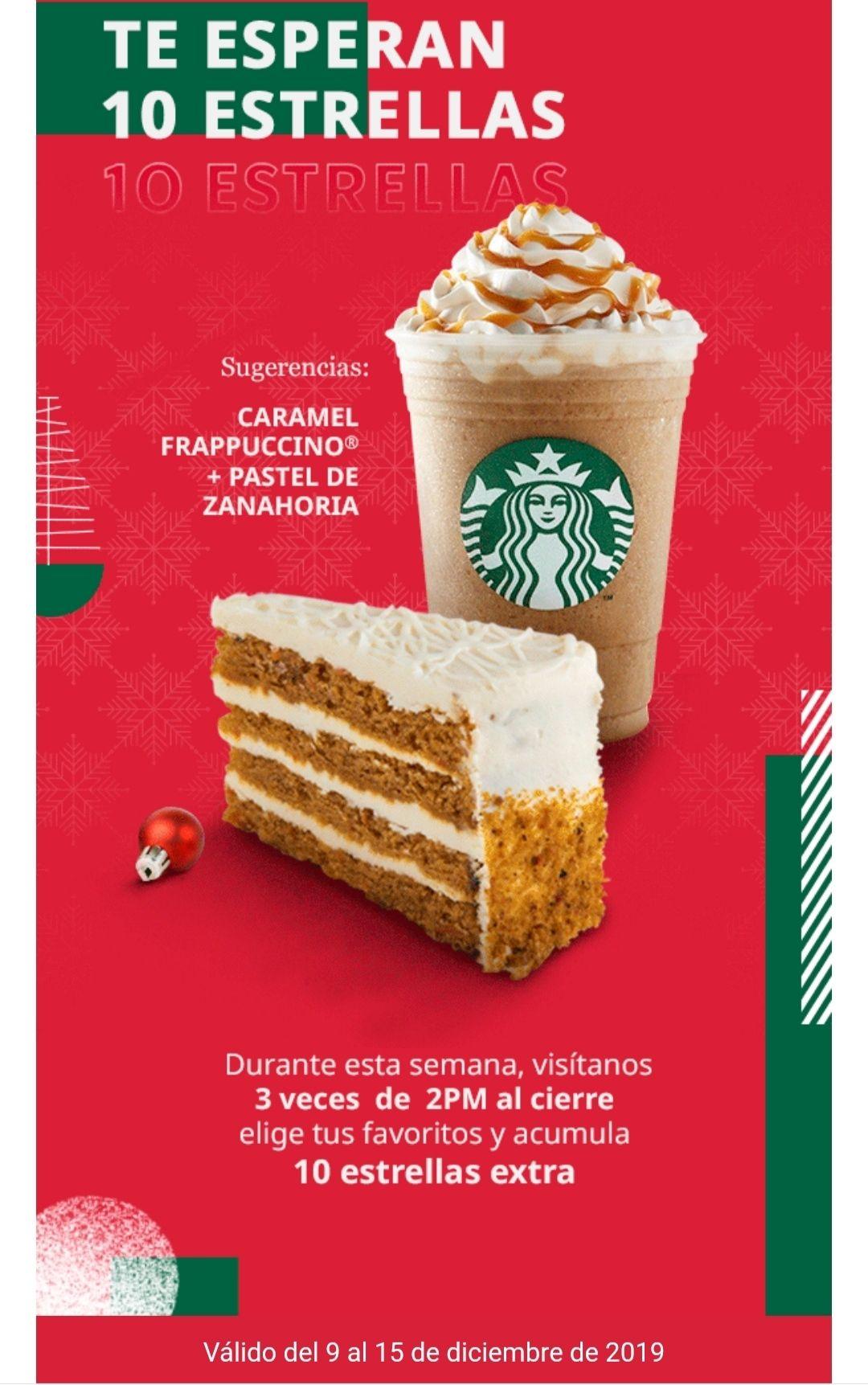 Starbucks: Realiza 3 visitas y obtén 10 stars extras (usuarios seleccionados)