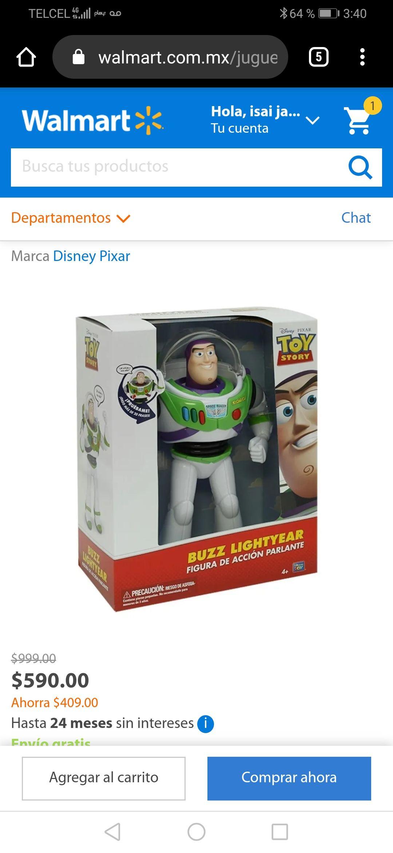 Walmart: Juguetes de toy story 599