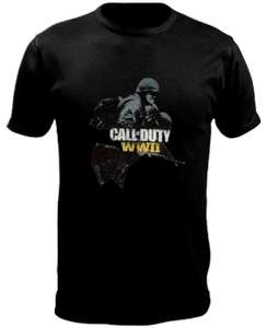 Game Planet: PLAYERA CALL OF DUTY WWII SOLDIERS NEGRA MEDIANA