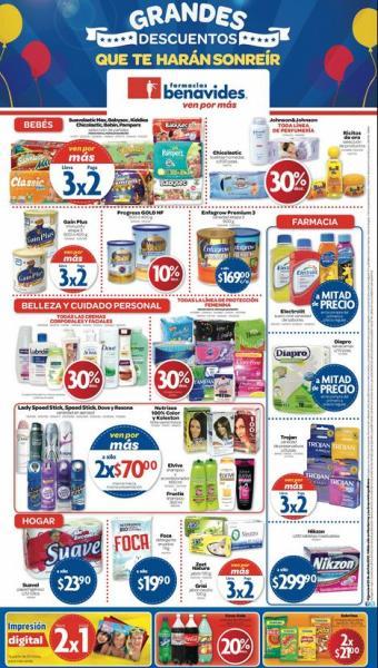 Farmacias Benavides: 3x2 en pañales Pampers, Chicolastic, 30% en cremas corporales y +
