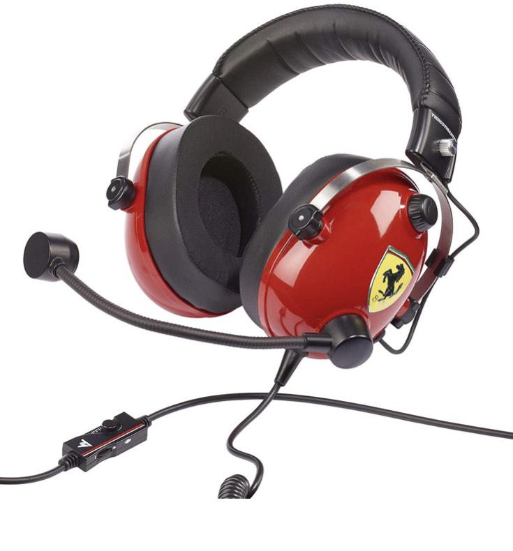 Amazon: Headset Thrustmaster Ferrari (oferta relámpago )