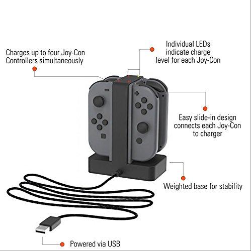 Amazon: Cargador para 4 joycons de Nintendo Switch