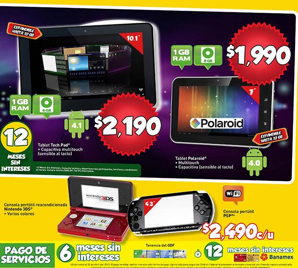 """Bodeg Aurrerá: Nintendo 3DS reacondicionada $2,490, tablet 10"""" $2,190 y +"""