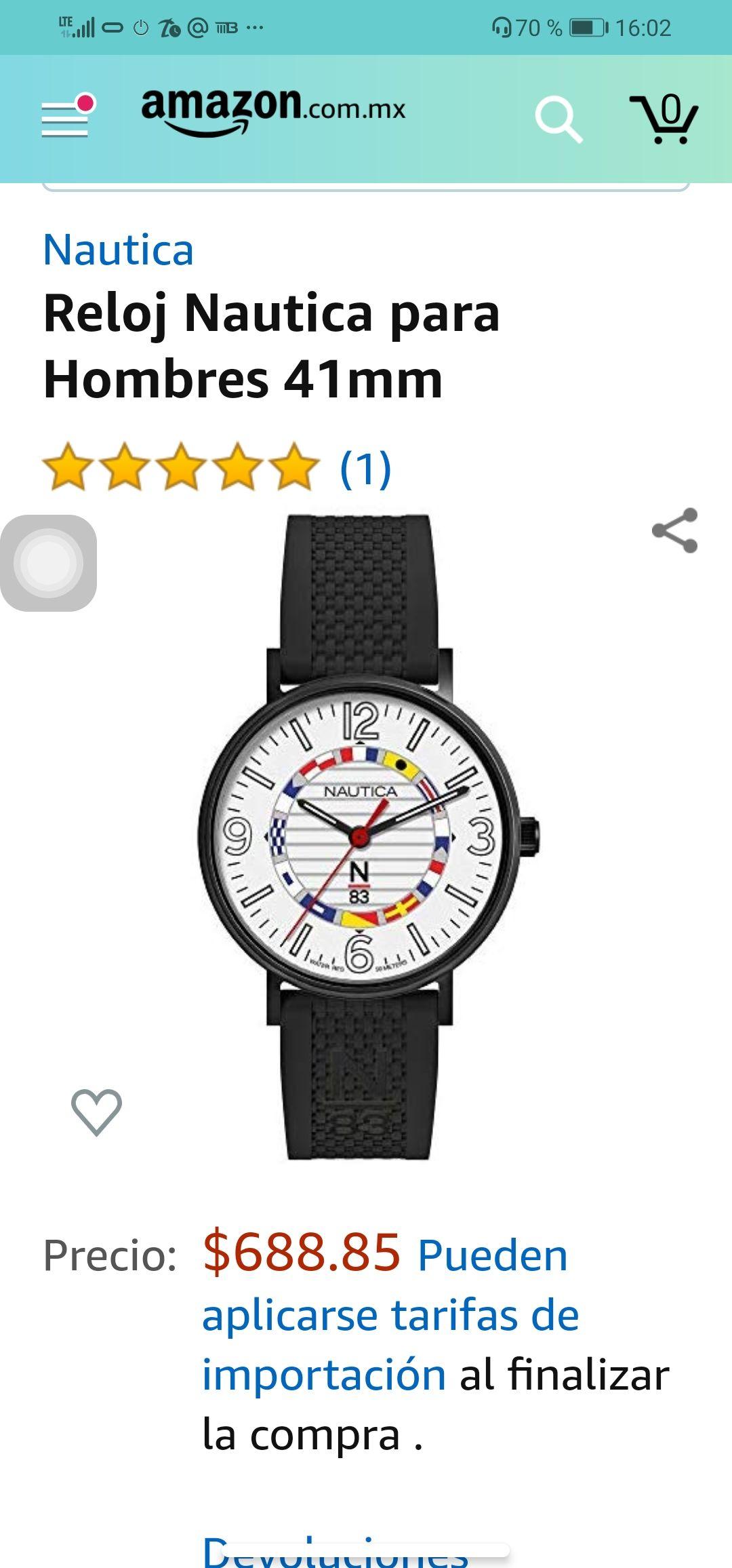 Amazon: Reloj Náutica a súper precio