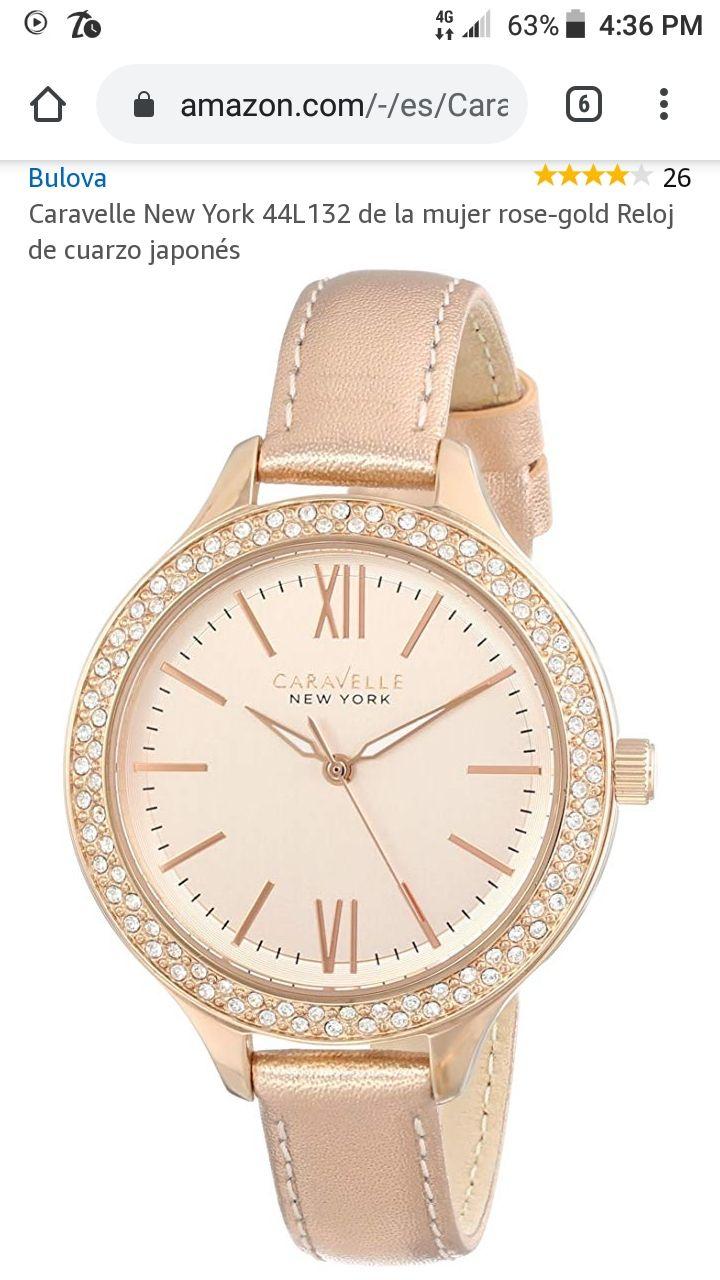 Amazon:USA. 26 Caravelle New York 44L132de la mujer rose-gold Reloj
