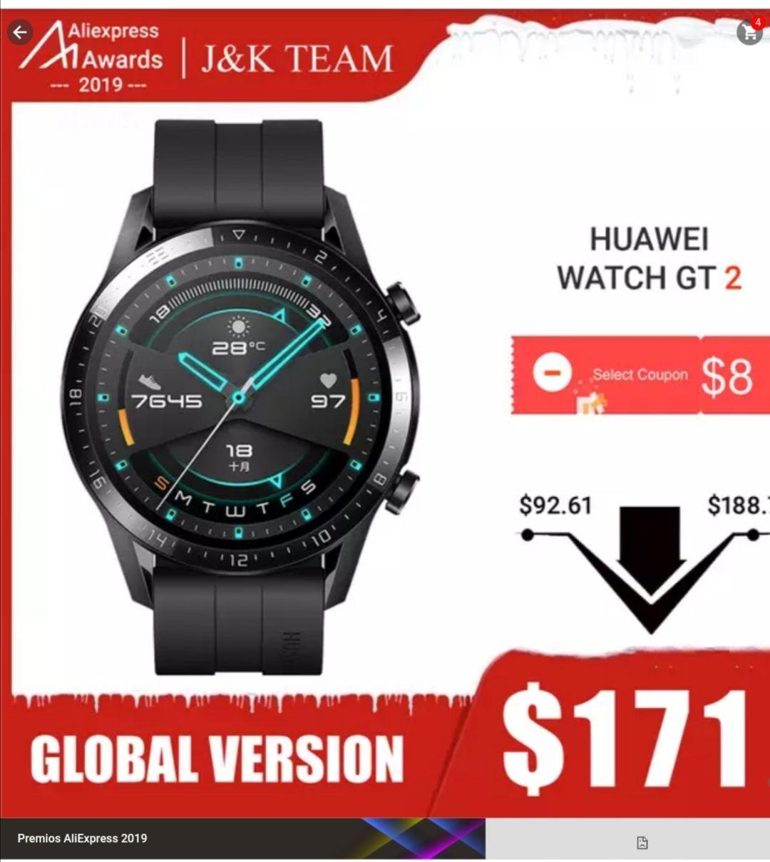 Aliexpress: Huawei gt2