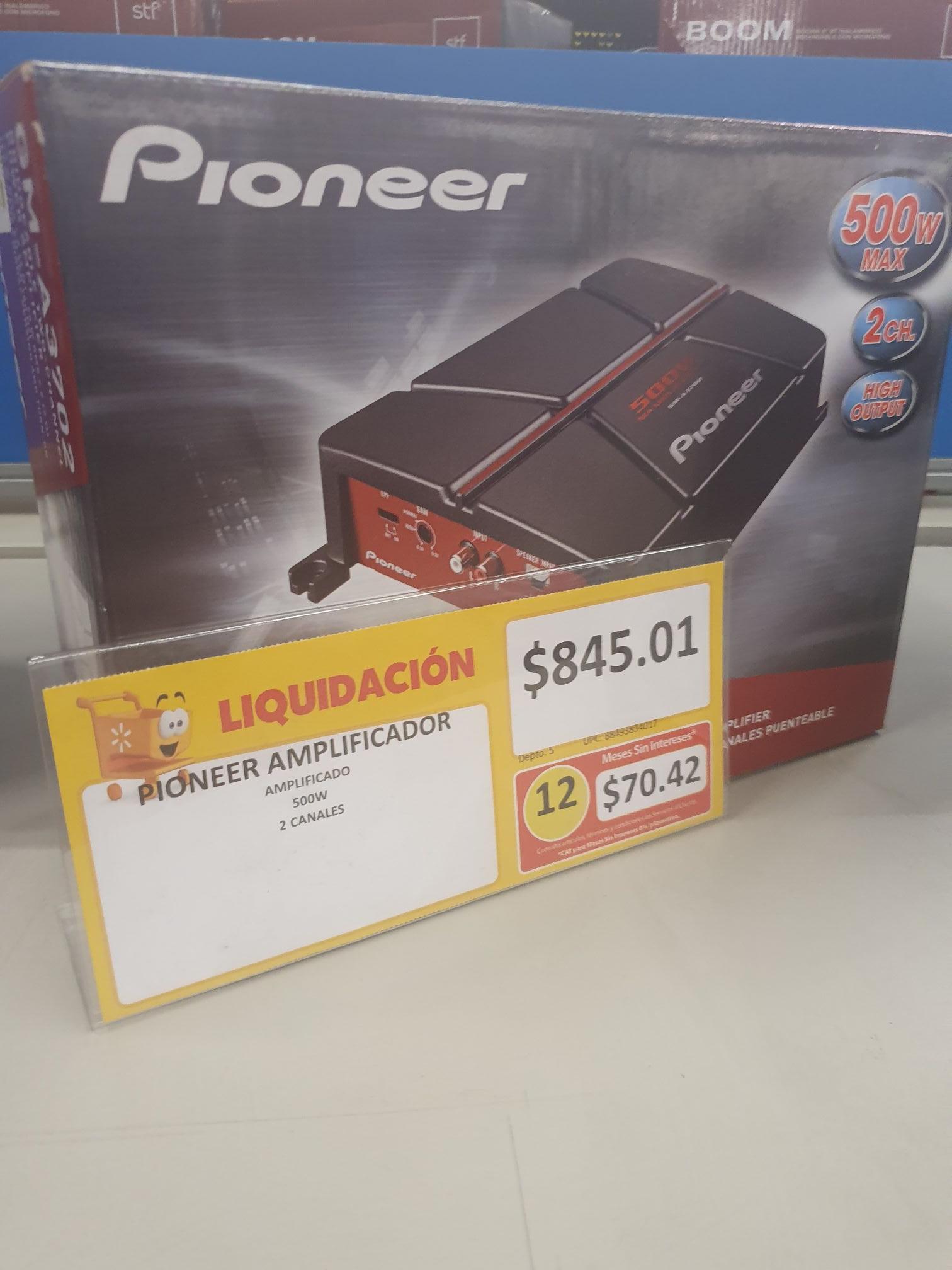 Walmart: Amplificador Pioneer GM-A3702