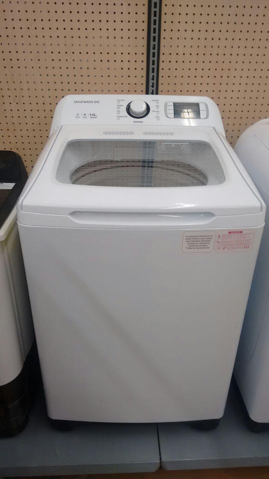 Walmart Paseo Real: lavadora daewoo 14k $1,574.03