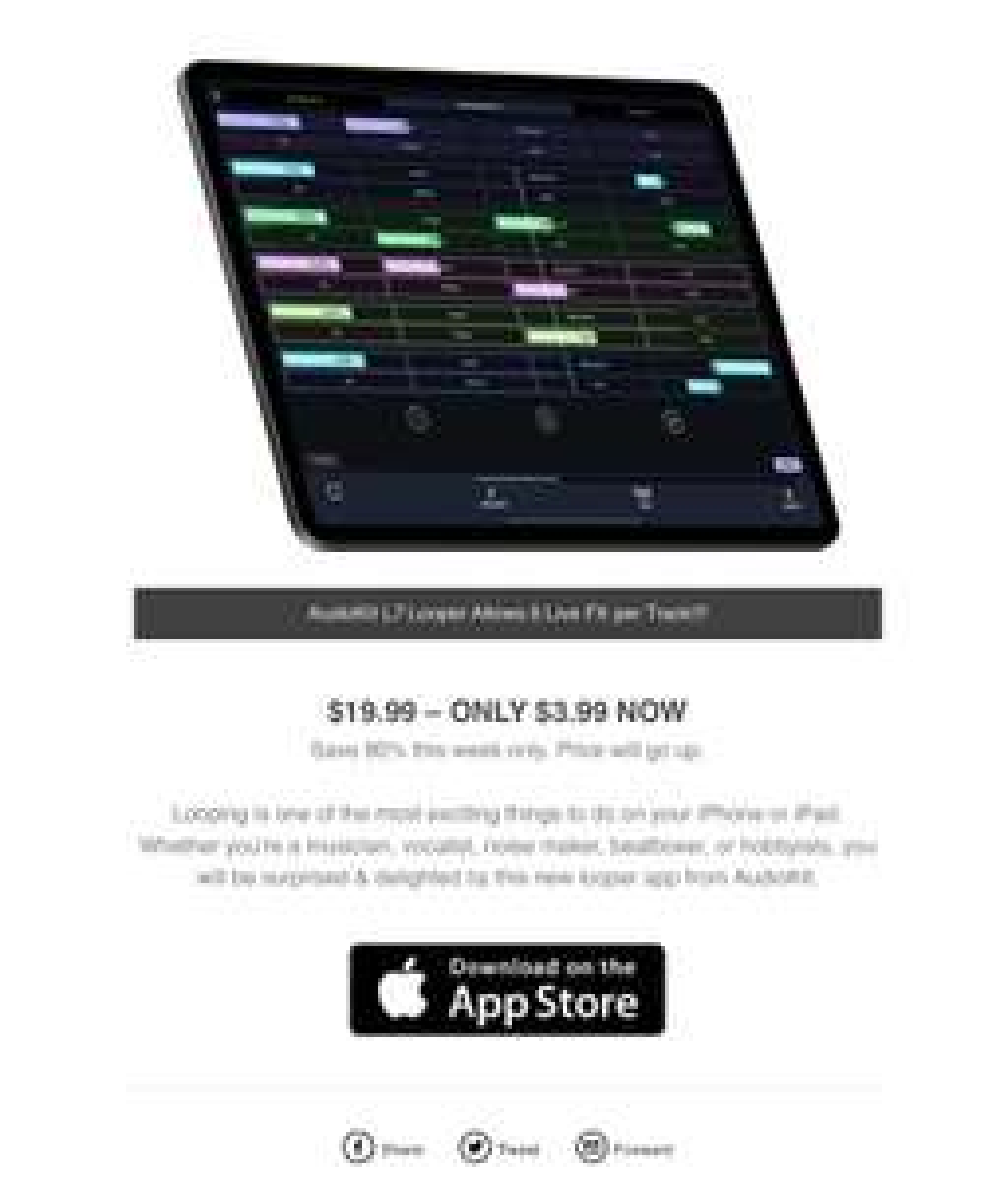 Apple Store: AudioKit L7 Live looper