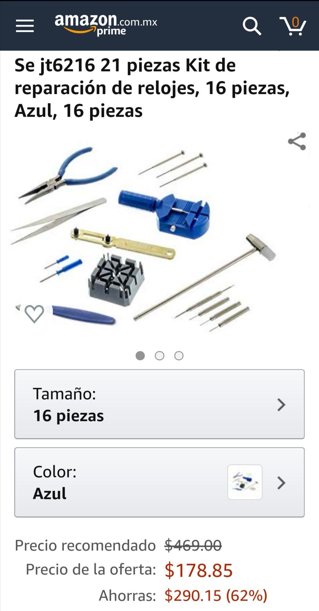 Amazon: Kit de reparación de relojes, 16 piezas