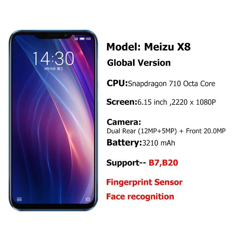 AliExpress: Meizu x8 4/6Gb Ram 64/128 Rom Compatible 4G México