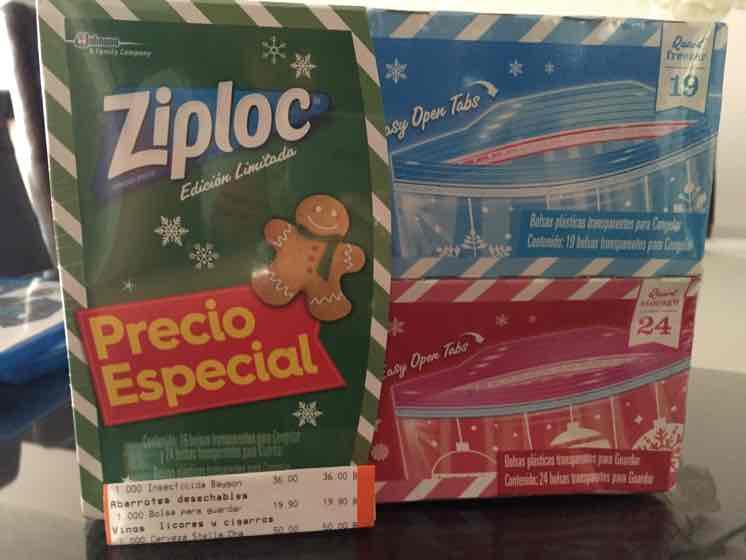 Chedraui Coapa: 2 cajas de Bolsas Ziplok para congelar y para guardar a $19.90