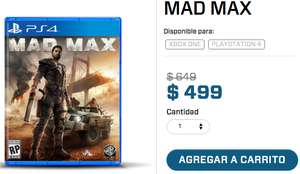 Gamers: Mad Max para PS4 y Xbox One a $499