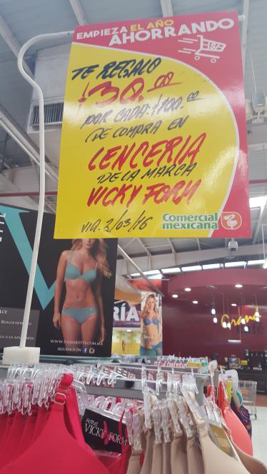 Comercial Mexicana: $30 por cada $100 de compra en Vicky Form y más