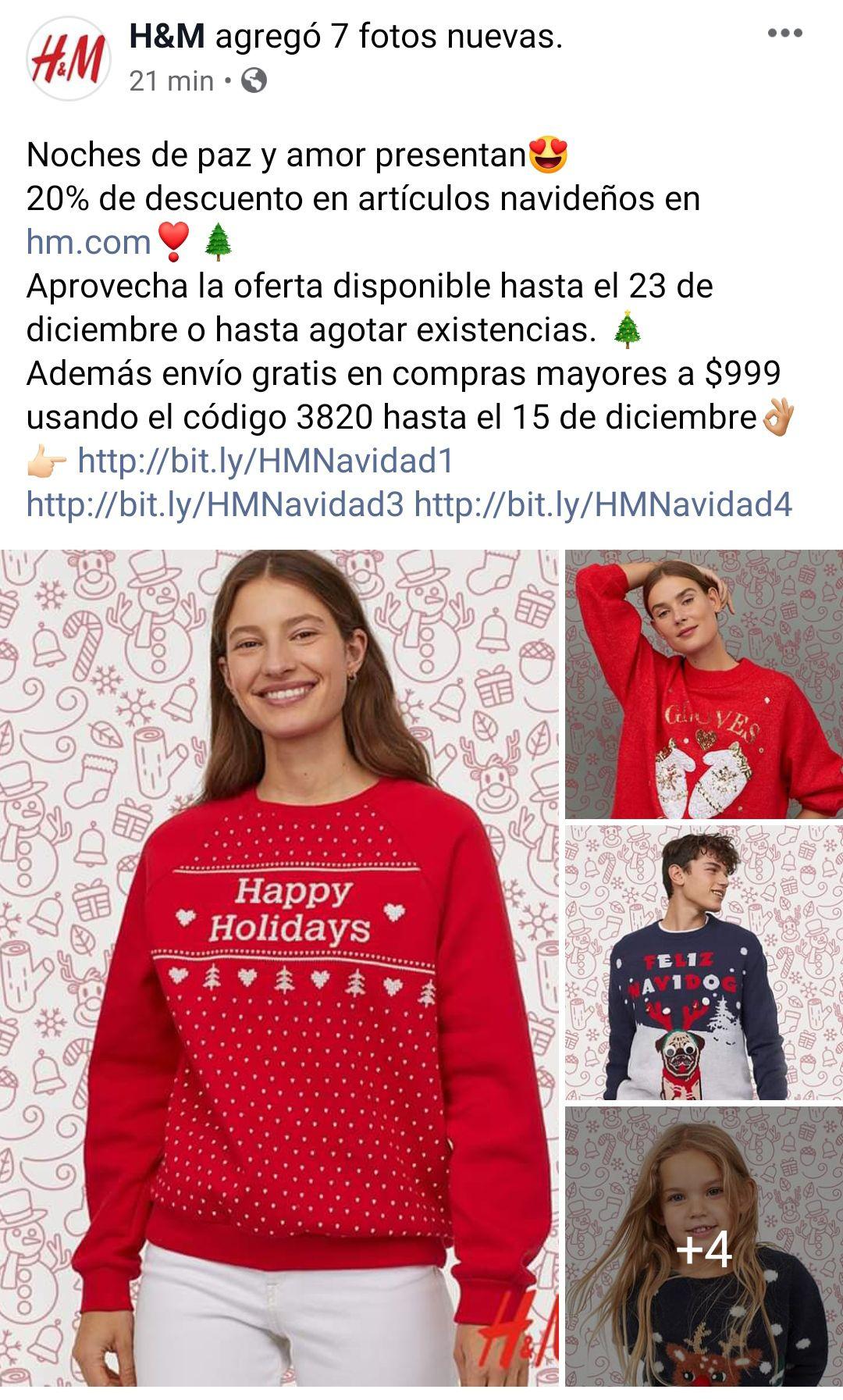 H&M: 20% de descuento en artículos navideños