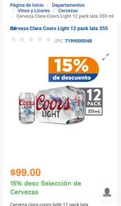 Chedraui: Coors light 12 pack $84