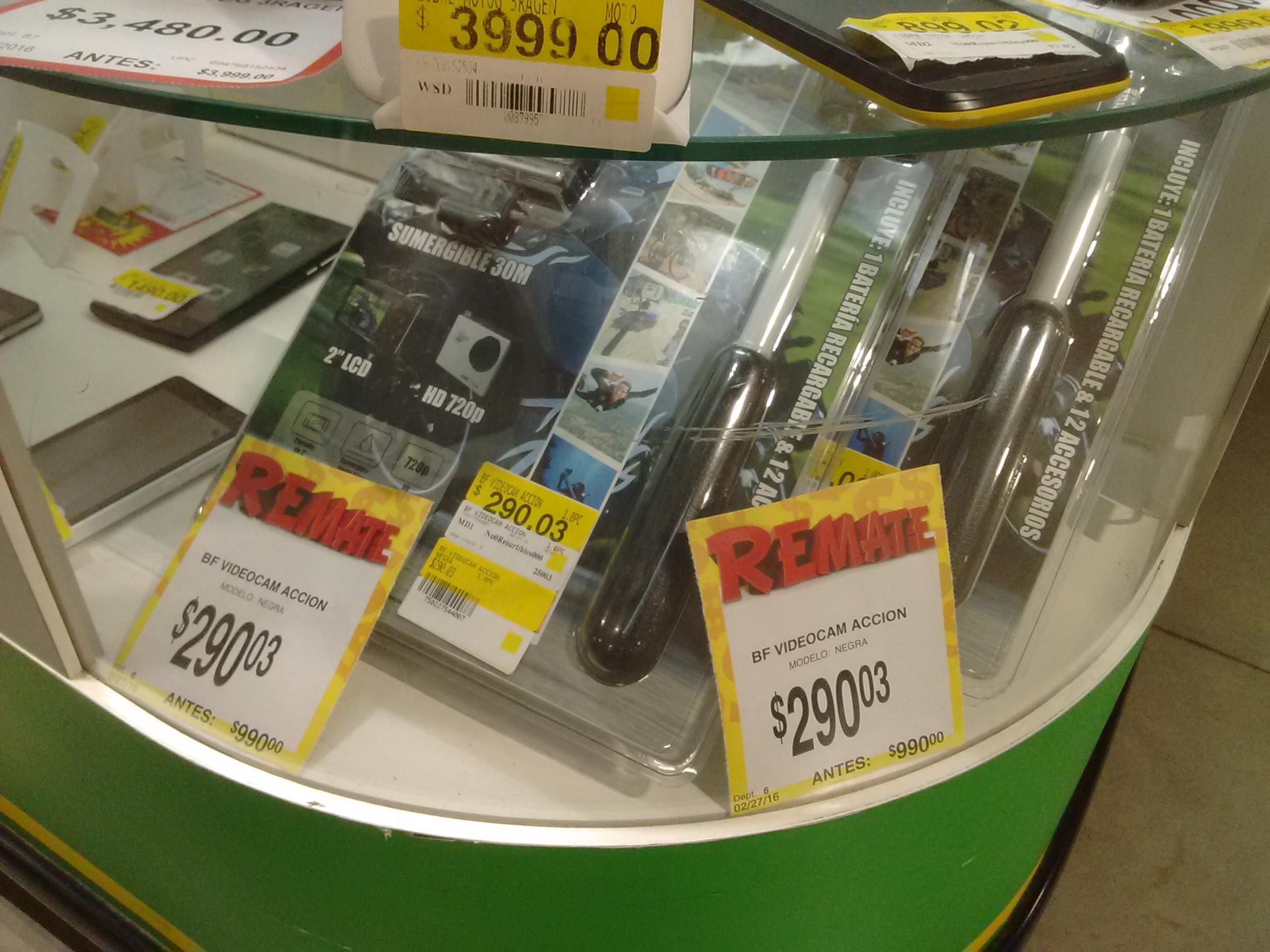 Bodega Aurrerá: Cámara Sumergible HD Action Camera con accesorios a $290.03