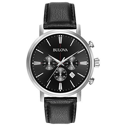 Amazon: Reloj Bulova Dress 41mm, pulsera de Piel de Becerro