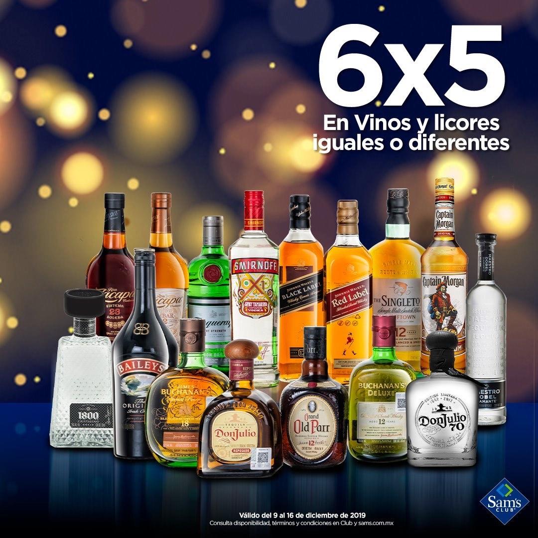Sam's Club: 6x5 EN TODOS LOS VINOS Y LICORES
