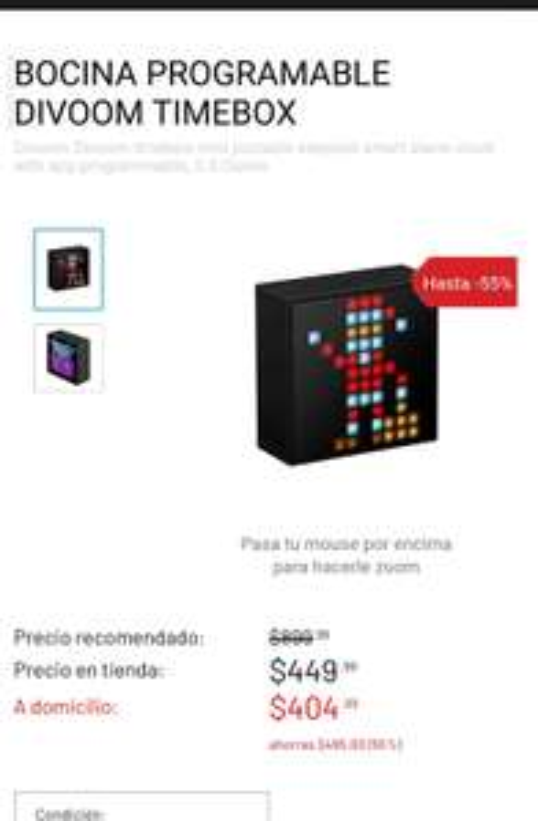 Game Planet: Divoom Timebox Mini