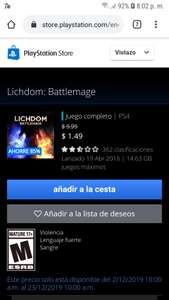 Playstation Store: Lichdom batlemage