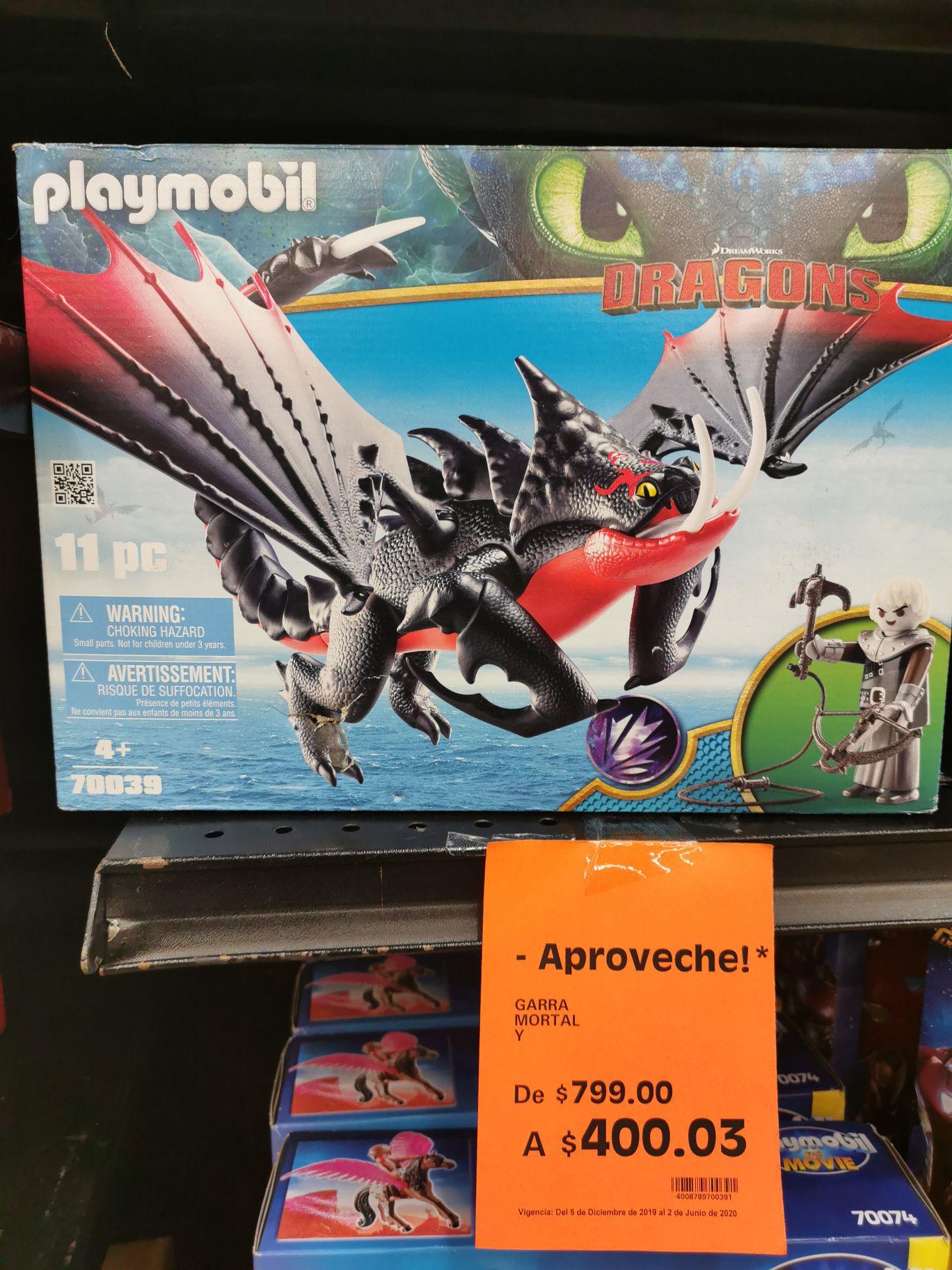 La Comer: Liquidación de dragón de playmobil y más