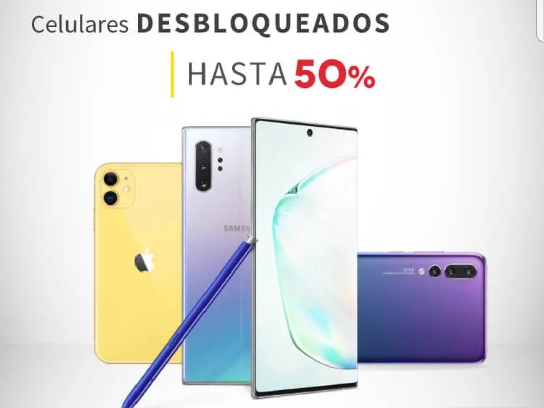 Elektra: hasta 50 % descuento celulares desbloqueado