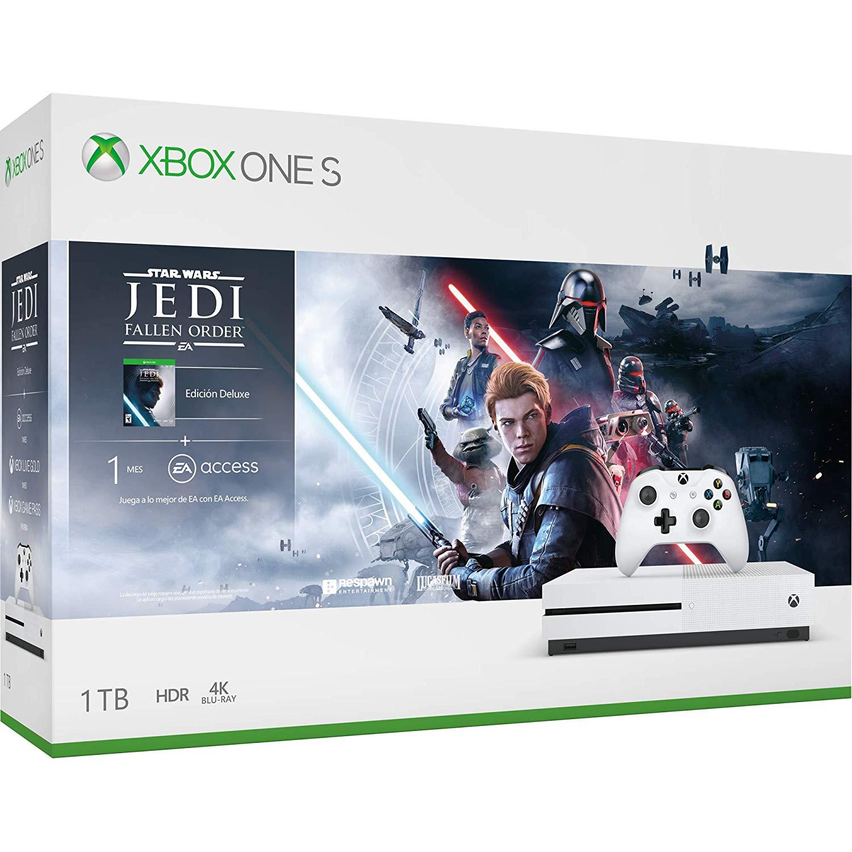 Amazon: Consola Xbox One S 1TB + Juego Star Wars Jedi: Fallen Order