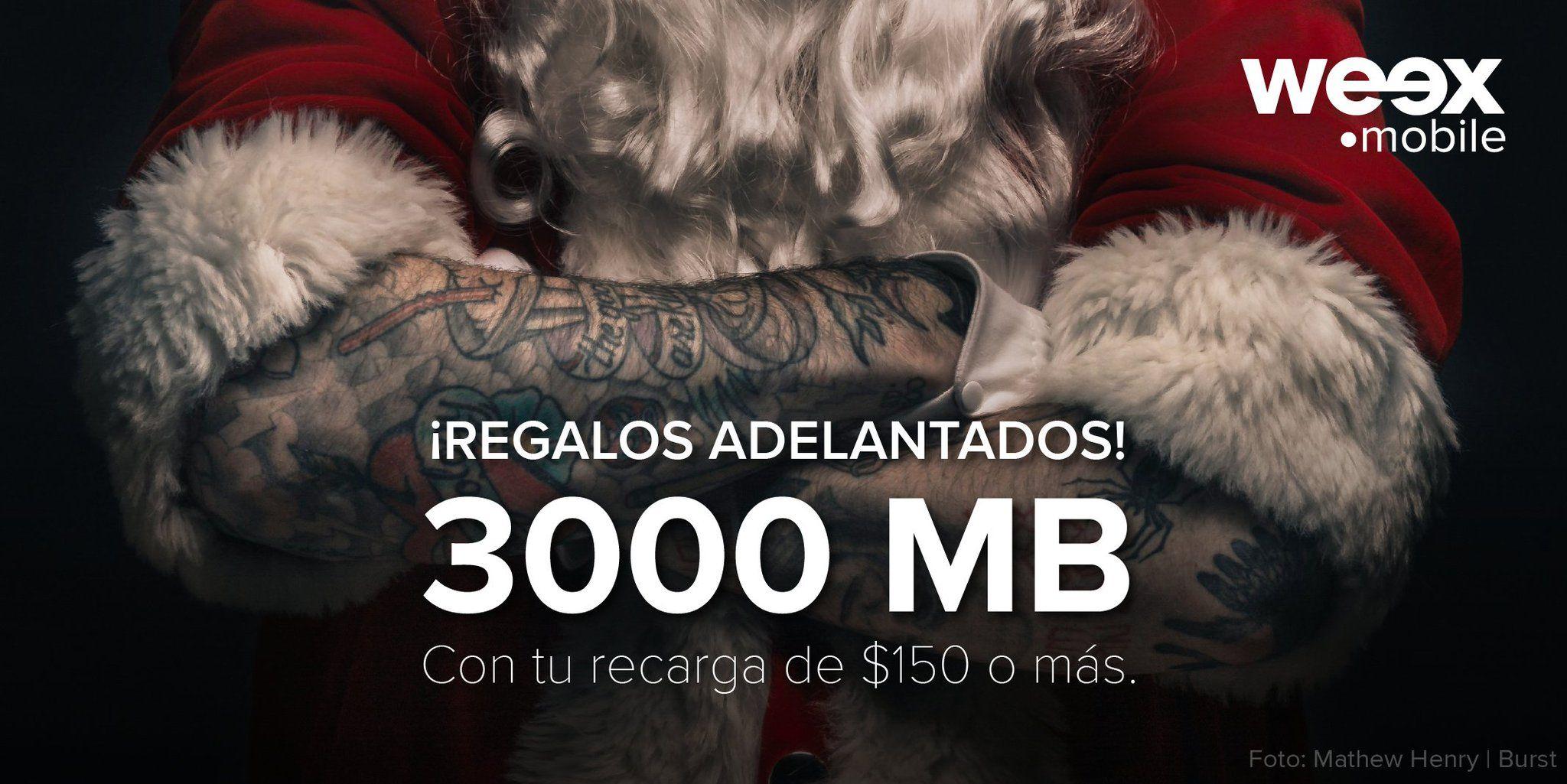 Weex 3GB gratis