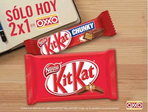 Oxxo: 2x1 en chocolates Kit Kat