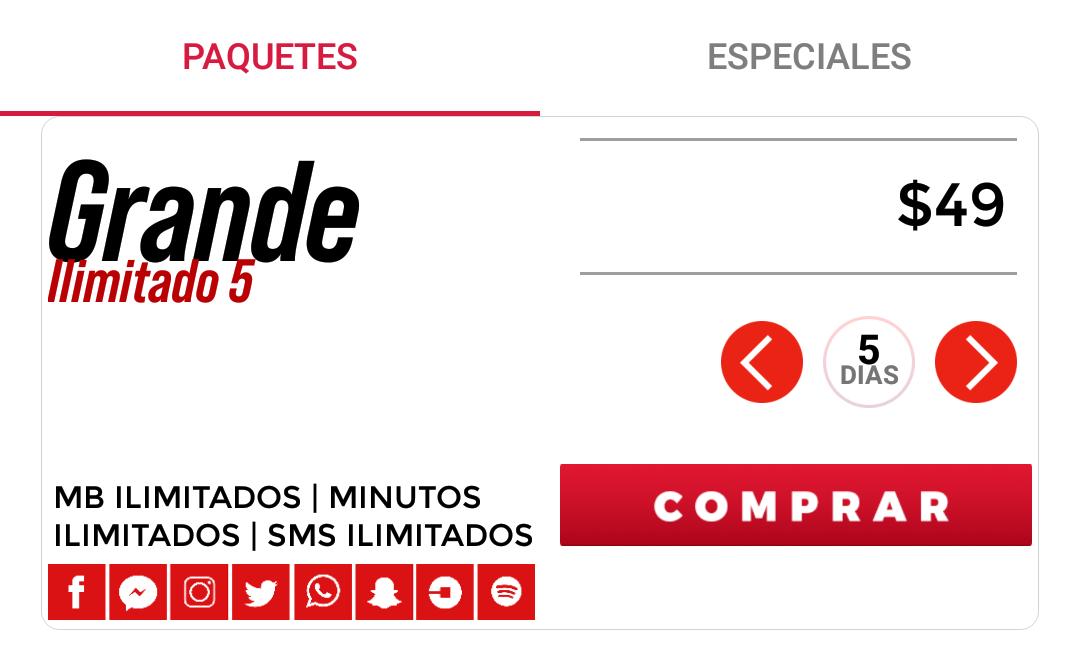 Internet Ilimitado Virgin Mobile 6GB X 5 días