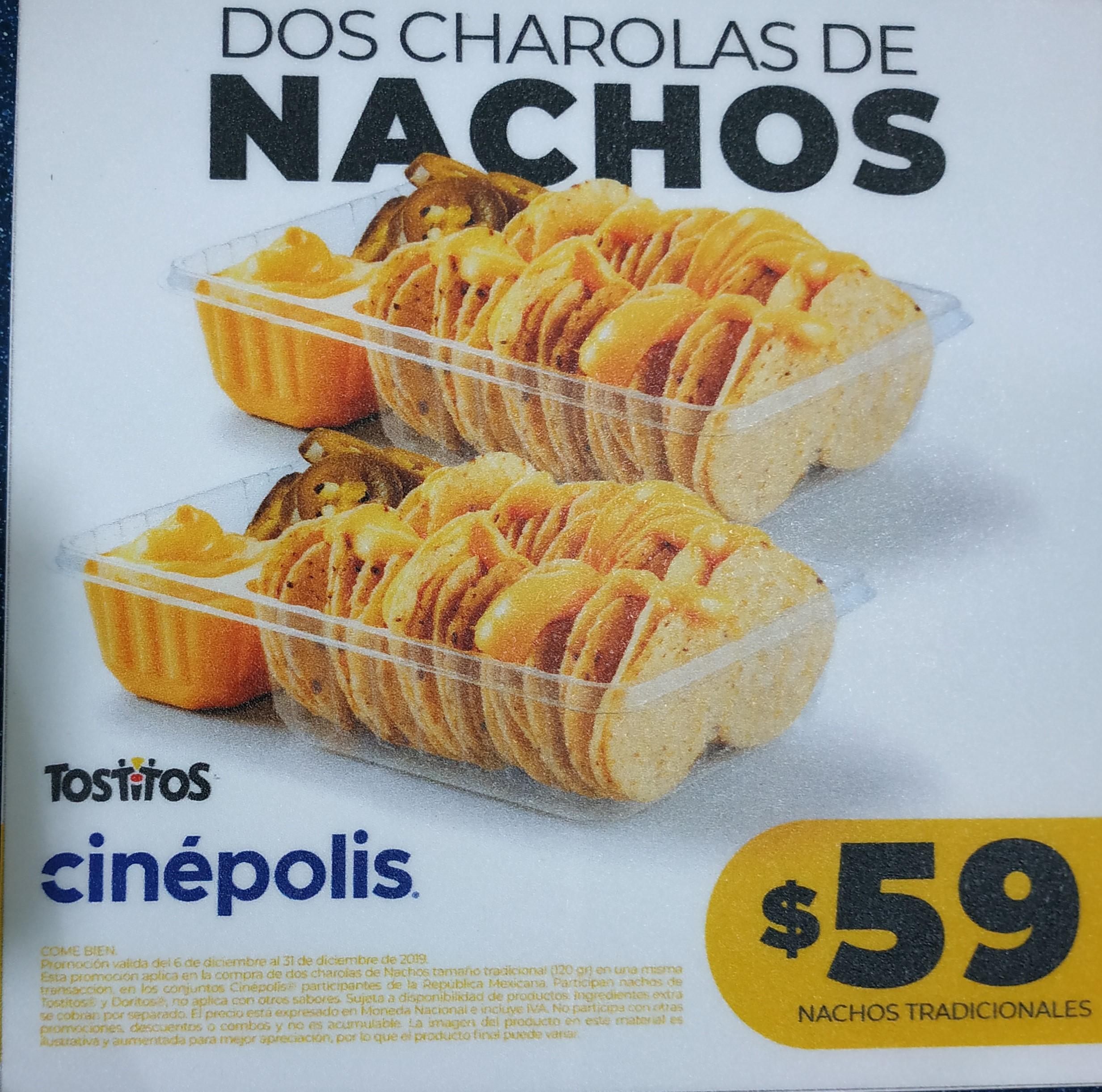 Cinepolis - 2 Charolas de Nachos
