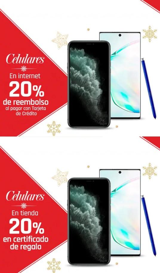 Suburbia: En celulares 20% de reembolso en tienda en línea al pagar con TDC... ó 20% en certificado de regalo en tienda física
