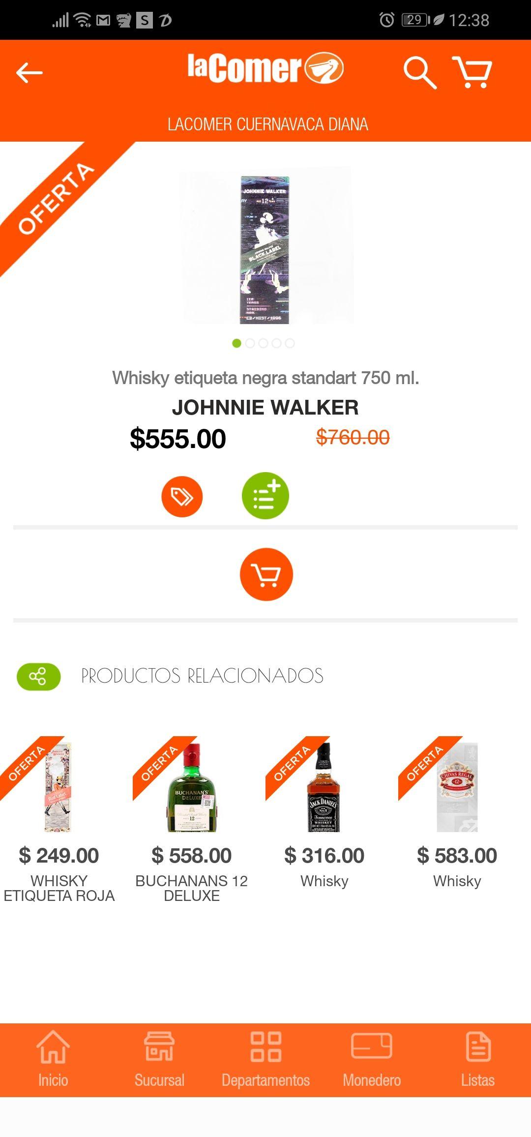 La comer: Johnnie walker black label