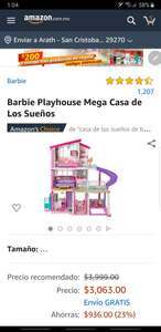Amazon: Casa de muñecas barbie