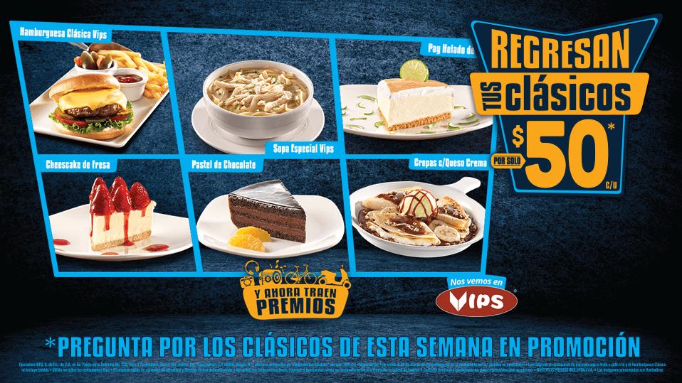 Regresan tus clásicos en Vips: Hamburguesa Especial Vips y más a $50