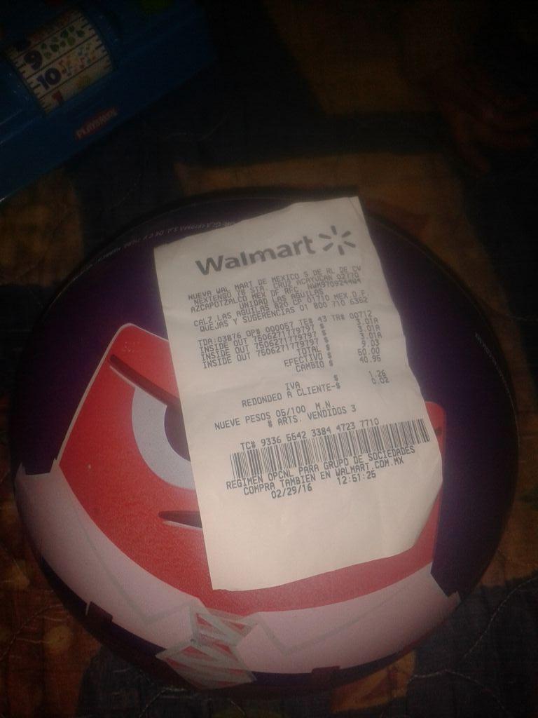 Walmart: pelota de Inside Out en Princhos las Águilas a $3.01