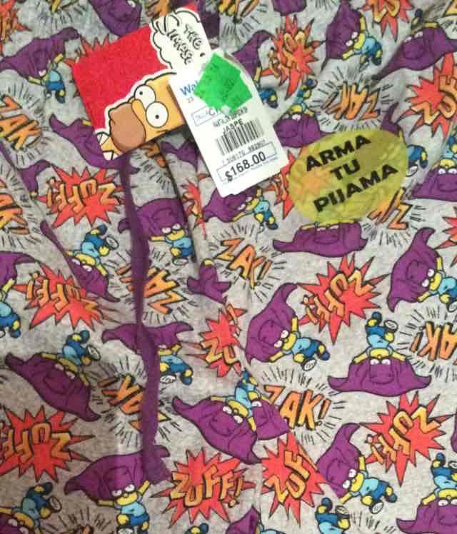 Walmart: pijama de los Simpson de $168 a $60.02