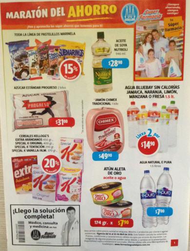 Folleto Farmacia Guadalajara del 16 al 30 de abril