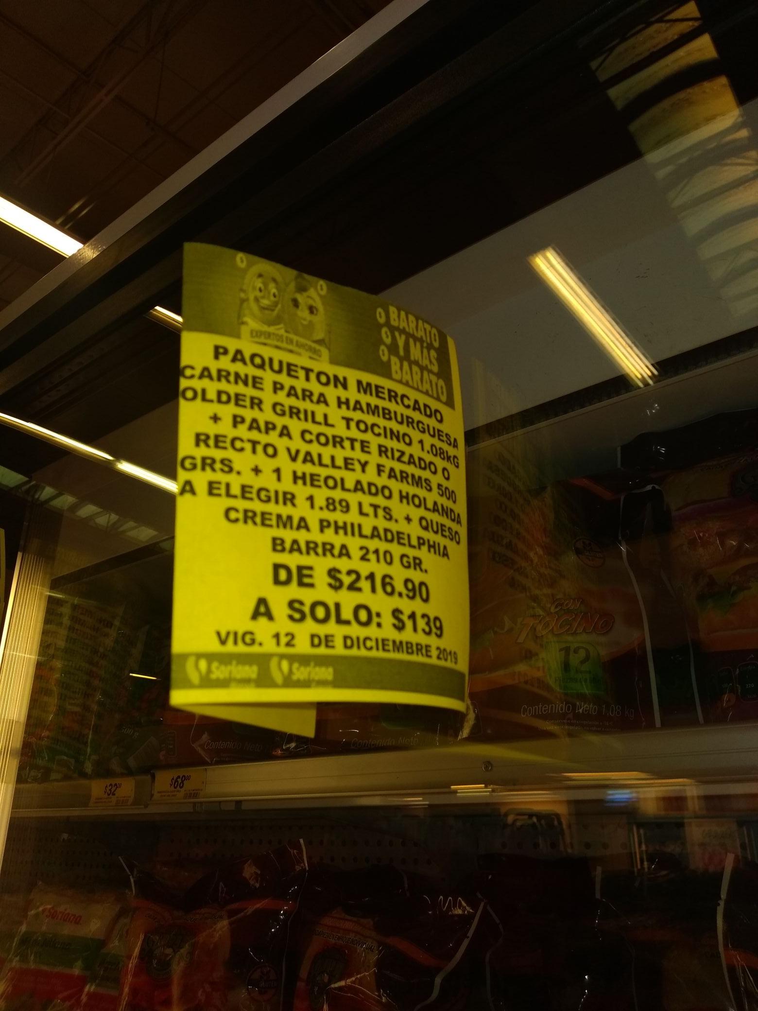 Soriana: Paqueton hamburguesa