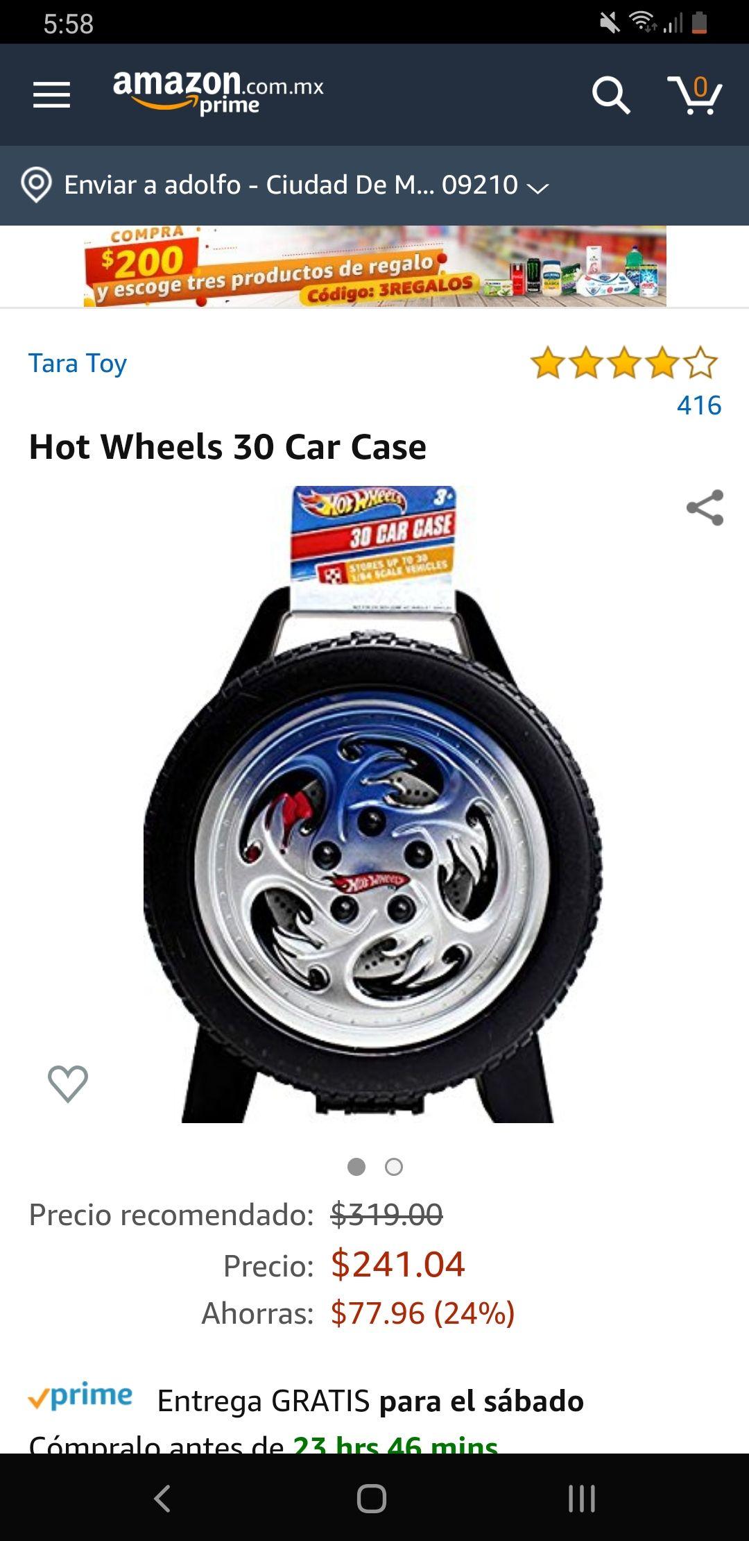 Amazon: Set de almacenamiento 30 carros hot wheels