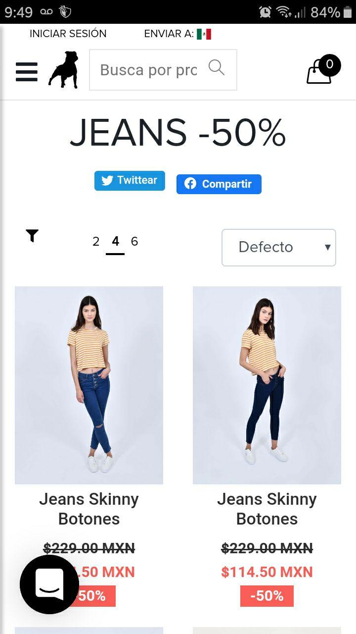 Cuidado con el Perro: Jeans al 50% de descuento