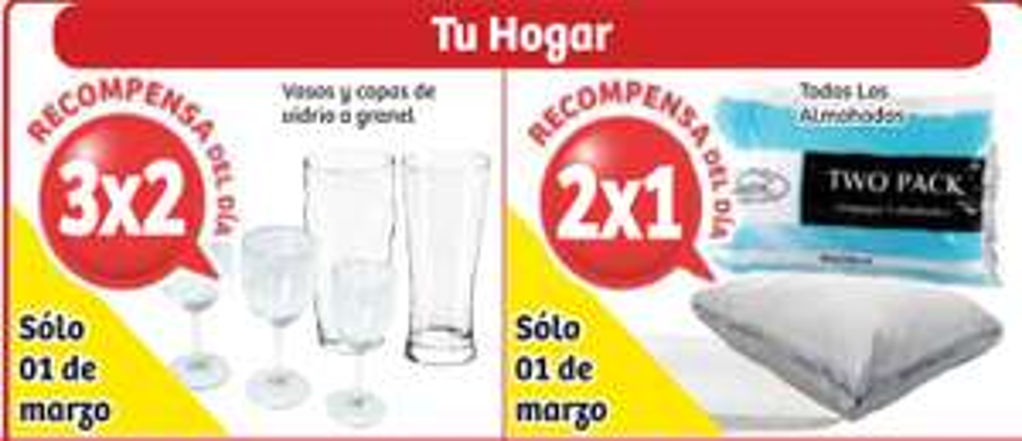 Soriana: 2x1 en todas las almohadas y 3x2 en vasos y copas