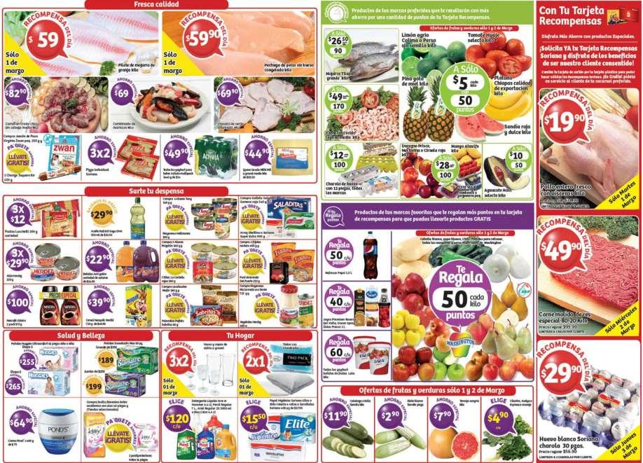 Soriana: ofertas de carnes, pescado, huevo, frutas y verduras del 1 al 3 de marzo