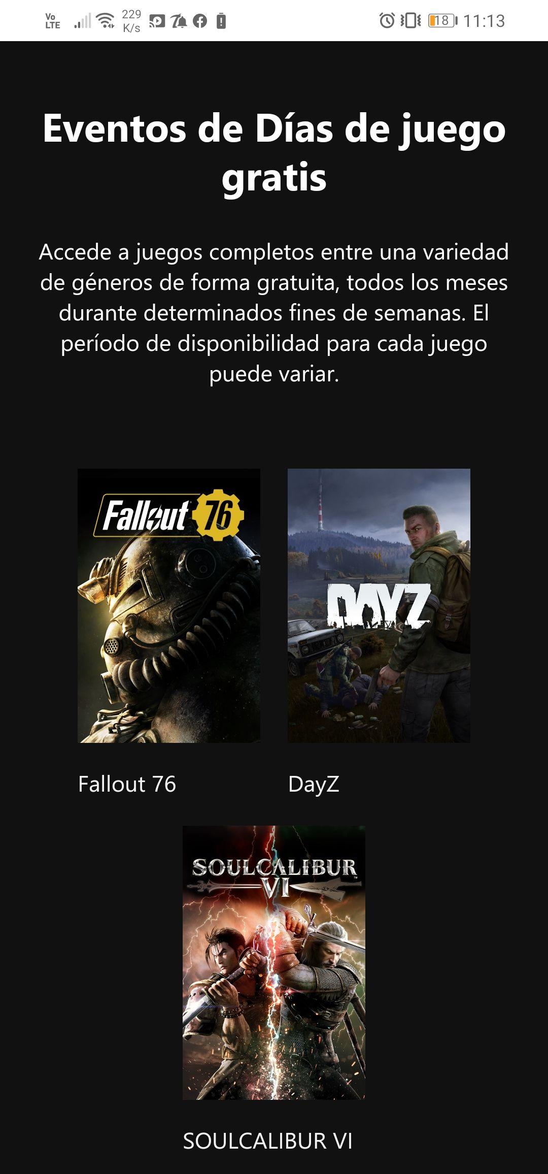 Xbox: Fallout76, DayZ y Soulcalibur Free to Play este fin de semana